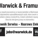 Oferta pracy od Warwicka/Framusa